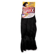 Cabelo Sintético Jumbo Super-X Cor 1B Preto Zhang Hair