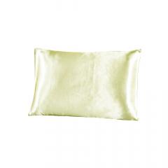 Fronha de cetim antifrizz para travesseiro: Bege