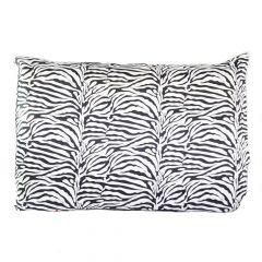 Fronha de cetim antifrizz para travesseiro: Zebra