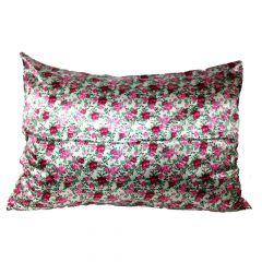 Fronha de cetim antifrizz para travesseiro: Buquê de Flores