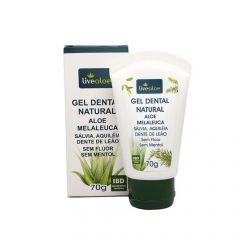 Gel Dental Natural Aloe e Melaleuca Live Aloe 70g