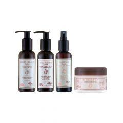 Kit Loção Tônica Facial + Sabonete Esfoliante + Loção de Limpeza + Creme Hidratante Facial Arte dos Aromas