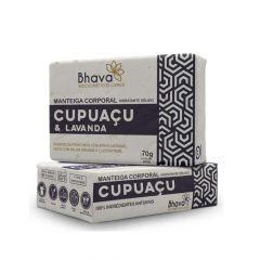 Manteiga Corporal Hidratante Sólido Cupuaçu e Lavanda Lixo Zero Bhava 70g