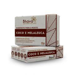 Sabonete Facial Coco e Melaleuca Lixo Zero Bhava 90g