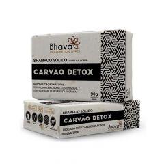 Shampoo Sólido Carvão Detox Lixo Zero Bhava 90g