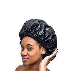 Touca PVC Tamanhos Especiais (Black, Tranças e Dreads): Preto G