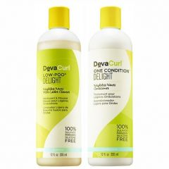 Kit Deva Curl Shampoo Low Poo Delight  + Condicionador One Condition Delight 355ML